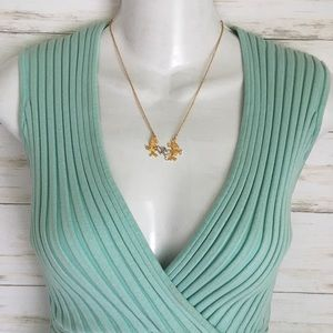 Vintage Mickey Minnie Disney Gold Silver Necklace
